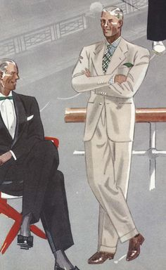 White Suit Illustration by Laurence Fellows
