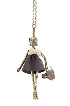Servane Gaxotte cat pendant.  I love this!