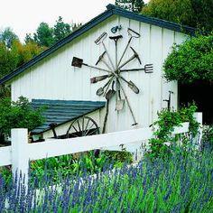 Honey, have you seen my rake? garden junk, vintage tools, garden tools, garden art, junk art, farm garden, barn art, antique tools, old barns