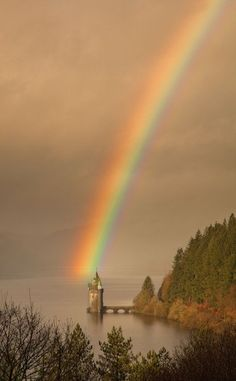 The tower: Lake Vyrnwy in Wales.