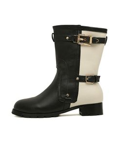 660ebc1a804c9 Trendy Buckle Trim Boots in Color Panel For Women Boots Code