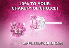 pink jewelry, breast cancer awareness, charity - ApplesofGold.com