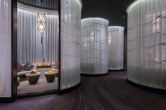 Spa Relaxation Area at Mandarin Oriental Hotel, Guangzhou Mandarin Oriental, Spa Design, Massage Room, Massage Place, Face Massage, Luxury Rooms, Luxury Spa, Guangzhou, Deco Spa