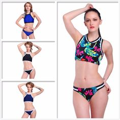 7be520155a 2016 POLOVI Hot Printed ₩ Younth Swimwear Womens Biquini Beachwear Swimsuit  Bathing Suit ᗜ Ljഃ Sexy Halter High Neck Bikini Set POLOVI Hot Printed  Younth ...