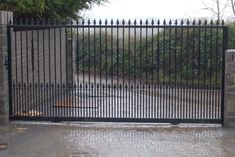 Large Wrought Iron Sliding Gate