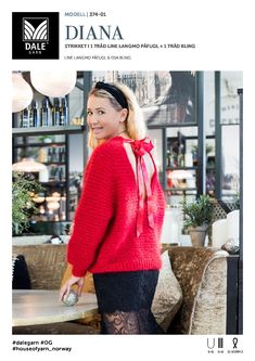 Line Langmo – Dale Garn Jumpers, Diana, Tights, Turtle Neck, Pullover, Sweaters, Fashion, Tunic, Threading