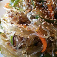 野菜た~ぷりヘルシー♪フライパン1つで挽き肉チャプチェ♪|しゃなママオフィシャルブログ「しゃなママとだんご3兄弟の甘いもの日記」Powered by Ameba