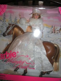 1998 BARBIE WINTER RIDE Gift Set Barbie Doll and Horse, NRFB  #Mattel #DollswithClothingAccessories