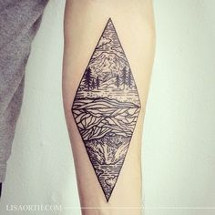 http://tattoomagz.com/awesome-lisa-orth-tattoos/mountains-and-rivers-tattoo-by-lisa-orth/