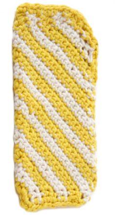 Crochet Sunshine Stripes Glasses Case