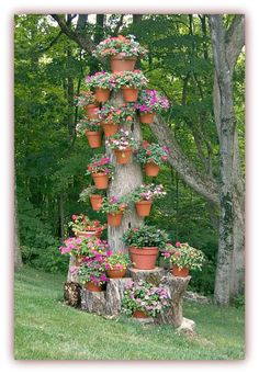 Great way to decorate an old tree stump