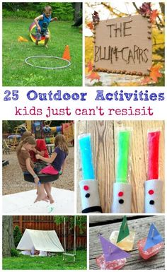 Love this list of Outdoor Activities for Kids -- perfect DIY low cost ideas for the backyard!  I remember doing some of these when I was younger -- fabulous!