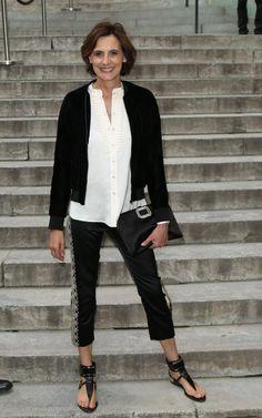 Ines de la Fressange: always in trousers, always chic.