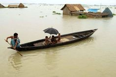 Flooding occurs every year in Bangladesh..