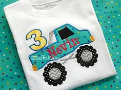 monster truck monster jam birthday shirt. Just ordered this for my baby! #simplygifted3 is the best!