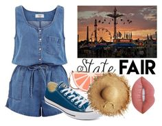 """""""Summer Date: The State Fair"""" by iouzzani on Polyvore featuring New Look, Converse, Kate Spade, Lime Crime, statefair and summerdate"""
