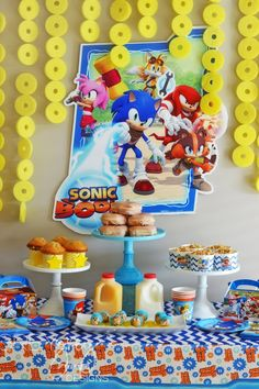 GreyGrey Designs: {My Parties} Sonic the Hedgehog Birthday Brunch