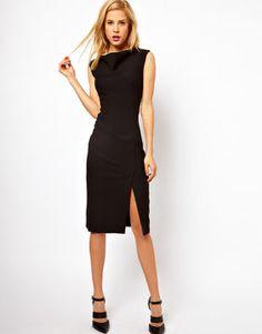 ASOS Pencil Dress with Slash Neck Detail on shopstyle.com