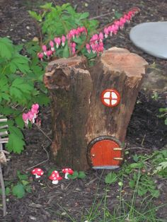 fairy door tree stump