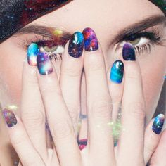 DIY-Proof Your Galaxy Mani With NCLA's Rad Nail Wraps! #mani #nailart #multicolorednails