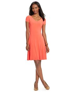 1bc0889eada Jersey Fit-and-Flare Dress - Lauren Short Dresses - RalphLauren.com Fit