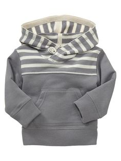 Striped terry hoodie Product Image