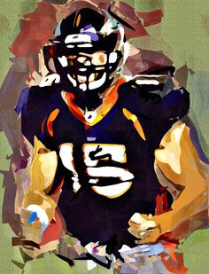 Tim Tebow Cubism Abstract Painting - Virtual Painter 6.