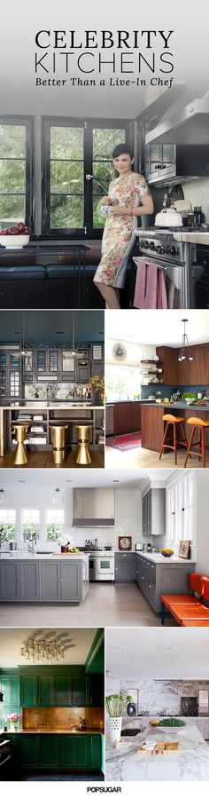 It might be impossible not to have hungry eyes when gazing at these celebrity kitchens! State-of-the-art appliances aside, it's the eye candy that's piquing our interest.