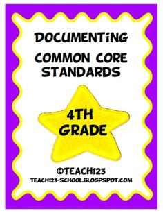 4th GRADE COMMON CORE STANDARDS