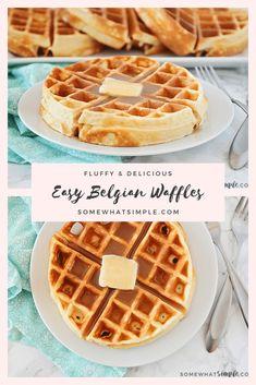 Easy Belgian Waffle Recipe, Best Waffle Recipe, Waffle Recipes, Pancake Recipes, Crepe Recipes, Yummy Recipes, Vegan Recipes, Breakfast, Deserts