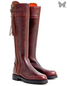 RENATA Italian Genuine Leather Long High Heeled Boots Women Ladies