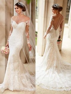 Cheap dress school, Buy Quality dress lining directly from China gowns for little girls Suppliers: Long Sleeves Lace Mermaid Wedding Dresses 2016 Romantic Vestido De Noiva Sexy Backless Bridal Wedding Gown Robe de Mariage Bridesmaid Dresses 2017, 2016 Wedding Dresses, Bridal Dresses, Wedding Gowns, Dresses 2016, Lace Wedding, Dresses Dresses, Wedding Reception, Wedding Dress Low Back