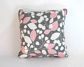 2 - 16x16 Pink and Grey Decorative Pillow Covers. $80.00, via Etsy.