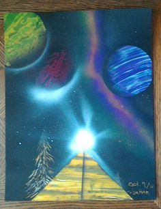 Spray Paint Art by PengwensCottage on Etsy