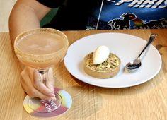 Apple Crumble Tart and a Berry Blast Cocktail at Hemsley + Hemsley Cafe, Selfridges London Hemsley And Hemsley, Selfridges London, Chocolate Drizzle, Peanut Butter Cookies, Tart, Berry, Good Food, Cocktail, Pumpkin