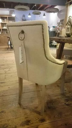 Gorgeous detail on the back of this dining chair from www.meyerandmarsh.co.uk