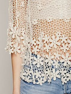 Outstanding Crochet: LA Livin Flower Shop Top from Free People
