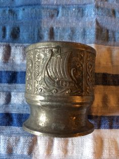 Pewter Egg Cup - Vintage (Celtic Looking)