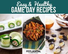Gearing up to watch some football this weekend? Or maybe you're more excited about basketball season starting? Check out these Easy and Healthy Game Day Recipes to enojy next time you tune in to cheer on your team. Game Day Snacks, Game Day Food, Healthy Side Dishes, Healthy Sides, Football Party Foods, The Healthy Maven, Organic Recipes, Ethnic Recipes, Clean Eating