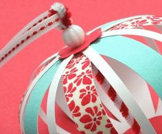 mmmcrafts: experimenting with paper/fabric ornaments