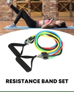 Do a Full Body Workout at Home, without needing expensive bulky equipment! Hundreds of exercises for all muscle groups Stackable resistance up to Build or tone muscle, burn fat, get great results! FREE Worldwide Shipping & Off This Week Resistance Band Training, Resistance Workout, Resistance Band Exercises, Exercises With Resistance Bands, Stretch Band Exercises, Resistance Bands With Handles, Exercise Bands, Band Workouts, Gym Workouts