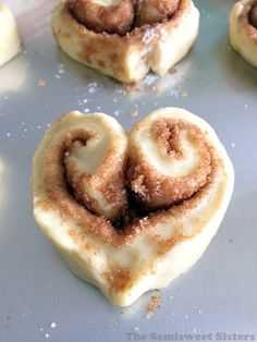 Heart Shaped Cinnamon Rolls (From Scratch) For Valentine's Day!