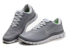 51b32780470 Womens Nike Free Running shoes Grey White - Click Image to Close