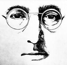 John Lennon - tinta sobre papel