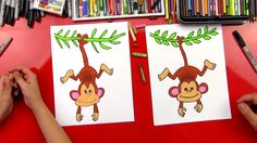 How To Draw A Monkey - Art For Kids Hub -
