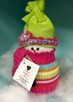 A personal favorite from my Etsy shop… Sock Snowman Craft, Crochet Snowman, Sock Crafts, Snowman Crafts, Ornament Crafts, Christmas Ornaments To Make, Christmas Projects, Holiday Crafts, Christmas Crafts