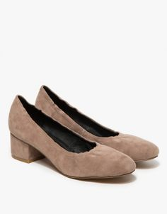 Bitsie in Taupe Suede