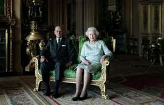 Queen Elizabeth II and The Duke of Edinburgh, Windsor Castle 2011 by Thomas Struth.