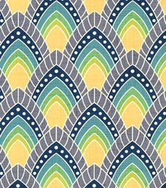 Patty Young Premium Quilt Fabric- Peacock Gardens Blue - JoAnn