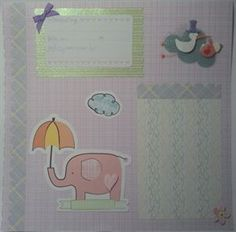 Handmade Traditional Scrapbook Layout for baby www.icanscrap4u.com